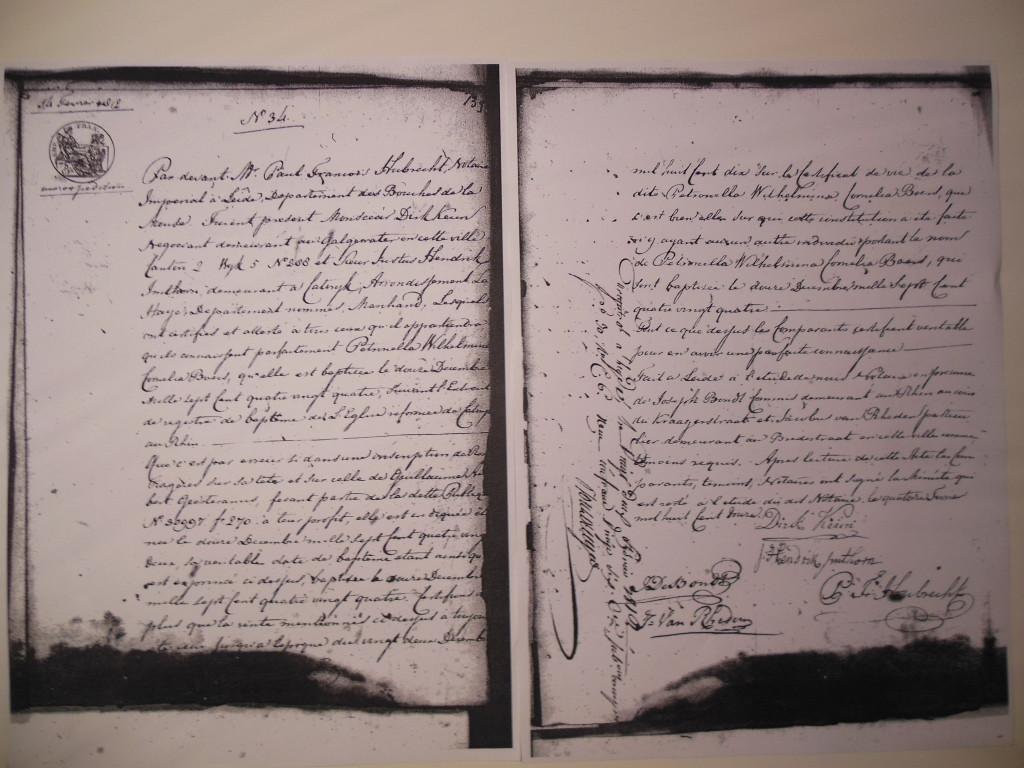 Notarisakte 14 feb. 1812, Justus Hendrik (koopman) Regionaal Archief Leiden, Nieuw Notarieel Archief, Inventarisnummer 182, Folio 139 + 139 verso