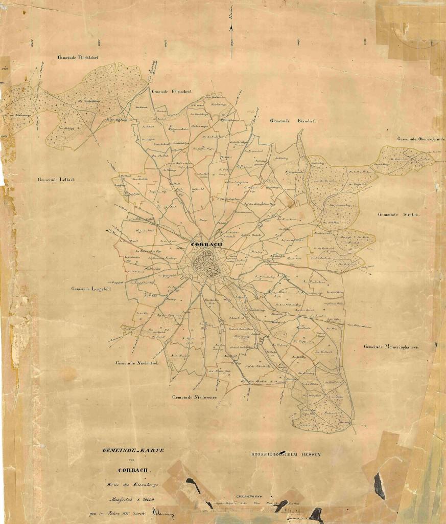 Gemeente Korbach uit 1855