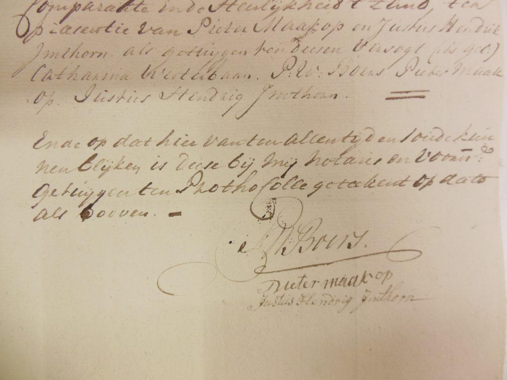 16.1.1787. Justus Hendrik getuige. [NA-3.03.08.072-inv.nr. 22]