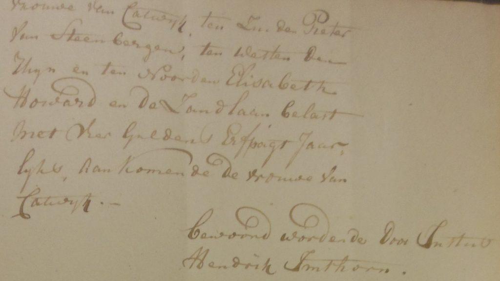 Justus Hendrik woont in 1803 nr. 179